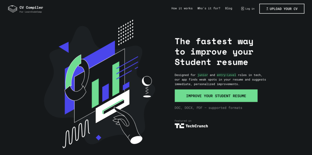 CV Compiler — the fastest way to improve your student resume