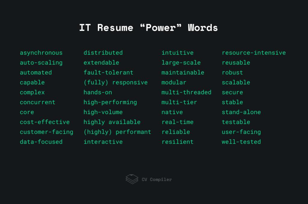 "IT Resume ""Power"" Words"